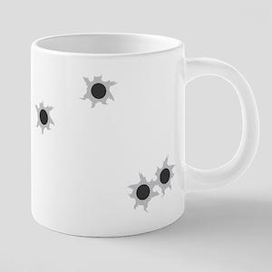 FIN-bullet-holes 20 oz Ceramic Mega Mug
