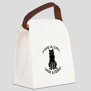 SpayAFeral_button Canvas Lunch Bag