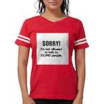 stupid-people.png Womens Football Shirt
