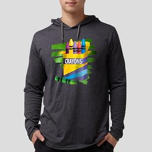 crayons Mens Hooded Shirt