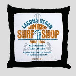 Laguna Beach Surf Shop Throw Pillow