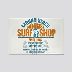 Laguna Beach Surf Shop Rectangle Magnet