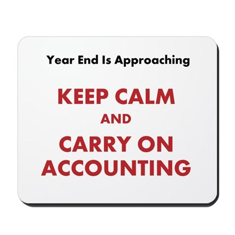 Accounting Year End Motivational Quote Mousepad by accountingcelebrity