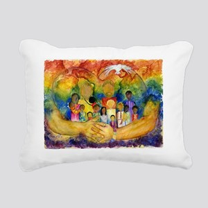 Born In His Heart Rectangular Canvas Pillow