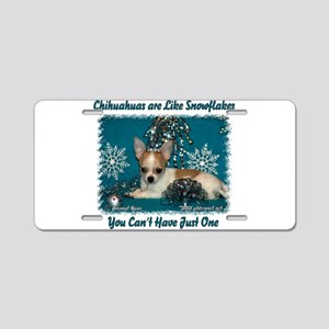 Chi's are like snowflakes Aluminum License Plate