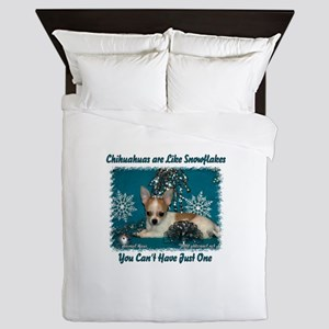 Chi's are like snowflakes Queen Duvet