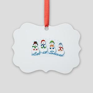 Let it Snow Picture Ornament