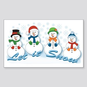 Let it Snow Sticker (Rectangle)