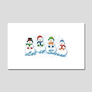 Let it Snow Car Magnet 20 x 12