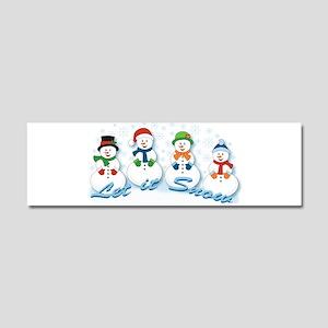 Let it Snow Car Magnet 10 x 3