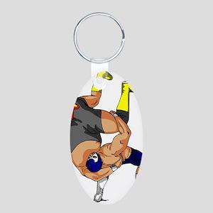 Fisherman Suplex Aluminum Oval Keychain