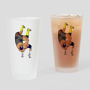 Fisherman Suplex Drinking Glass