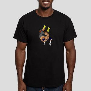 Fisherman Suplex Men's Fitted T-Shirt (dark)