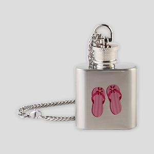 Pink Flip Flops Flask Necklace