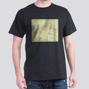 Vintage Map of Barbados and Tobago (1853) T-Shirt