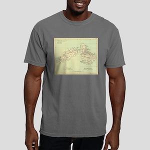 Vintage Map of Barbados Mens Comfort Colors Shirt