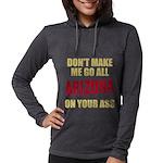 Arizona Baseball Womens Hooded Shirt