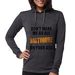 Baltimore Baseball Womens Hooded Shirt