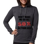 Boston Baseball Womens Hooded Shirt