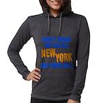 New York Baseball Womens Hooded Shirt