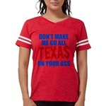 Texas Baseball Womens Football Shirt