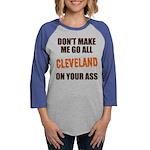 Cleveland Football Womens Baseball Tee