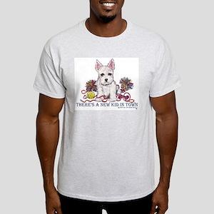 New Kid Westie Puppy Ash Grey T-Shirt