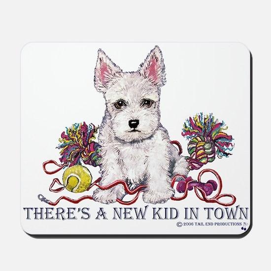 New Kid Westie Puppy Mousepad