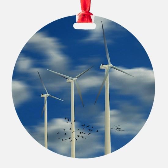 Wind Turbines Ornament
