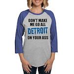 Detroit Football Womens Baseball Tee