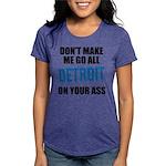 Detroit Football Womens Tri-blend T-Shirt