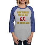 Kansas City Football Womens Baseball Tee