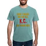 Kansas City Football Mens Comfort Colors Shirt