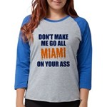 Miami Football Womens Baseball Tee