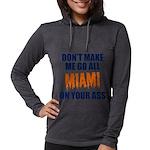 Miami Football Womens Hooded Shirt