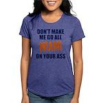 Miami Football Womens Tri-blend T-Shirt