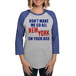 New York Football Womens Baseball Tee