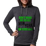 New York Football Womens Hooded Shirt