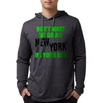 New York Football Mens Hooded Shirt