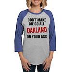 Oakland Football Womens Baseball Tee