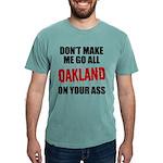 Oakland Football Mens Comfort Colors Shirt