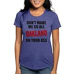 Oakland Football Womens Tri-blend T-Shirt