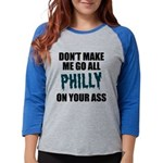 Philadelphia Football Womens Baseball Tee