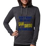 San Diego Football Womens Hooded Shirt