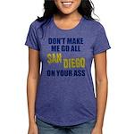 San Diego Football Womens Tri-blend T-Shirt