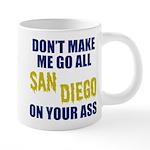 San Diego Football 20 oz Ceramic Mega Mug