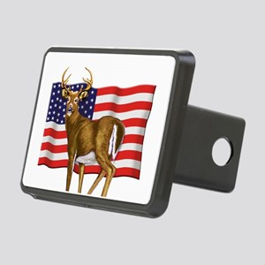 American White Tail Deer Buck Rectangular Hitch Co