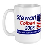 Stewart / Colbert for Preside Large Mug