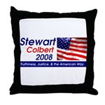 Stewart / Colbert for Preside Throw Pillow