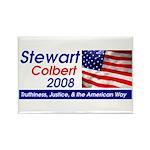 Stewart / Colbert for Preside Rectangle Magnet